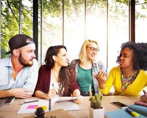 studenten in opleiding tot ervaringsdeskundige aan de SBE-opleiding bij ROC Midden Nederland